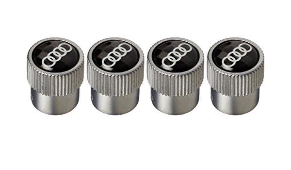 AUDI New Carbon Fiber Valve Stem Caps Rings Logo Set of 4 FBA/_ZAW071215