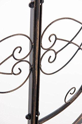 CLP Metall Eckbank / Gartenbank LORENA, Baumbank Design nostalgisch antik, Eisen lackiert, ca. 140 x 60 cm Bronze - 6