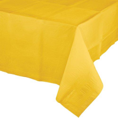 Creative convertting tovaglia carta 137 x 274 cm giallo school bus yellow, multicolore, taglia unica