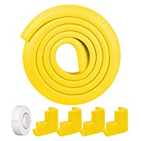 Safety Corner Protectors Guards & Edge Set, Augola Table Corner Guards for Child and Baby Proofing, 6.56Ft Edge Guard + 4Pcs Corner Guard with Strong Adhesive
