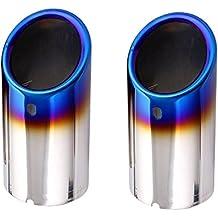 Top-Longer Silenciador Terminales Embellecedores de Tubo de Escape Cola de Punta, 2 Piezas