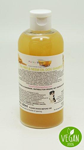 Bottiglia x1 di Tea Tree liquido e olio Neem per shampoo cane, 100% naturale, senza SLS, 250ml