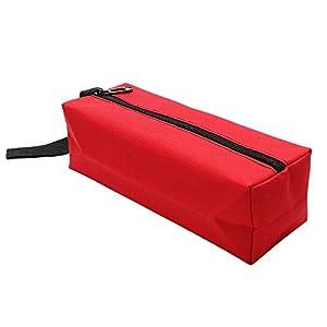 iTimo DIYWORK Bolsa de herramientas de mano bolsa de almacenamiento para tornillos clavos broca Metal partes Oxford herramientas embalaje portátil impermeable Organizador (rojo)