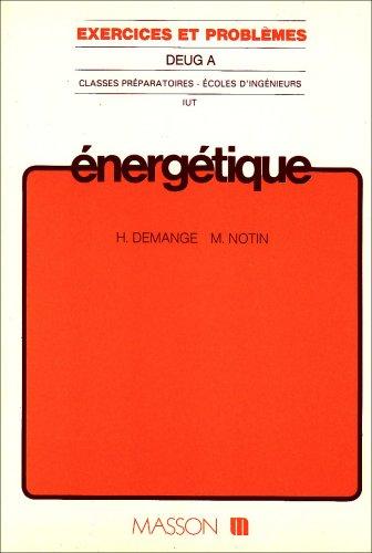 Energétique: Exercices et problèmes