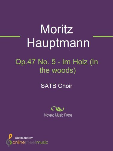 Op.47 No. 5 - Im Holz (In the woods) - Score (English Edition)