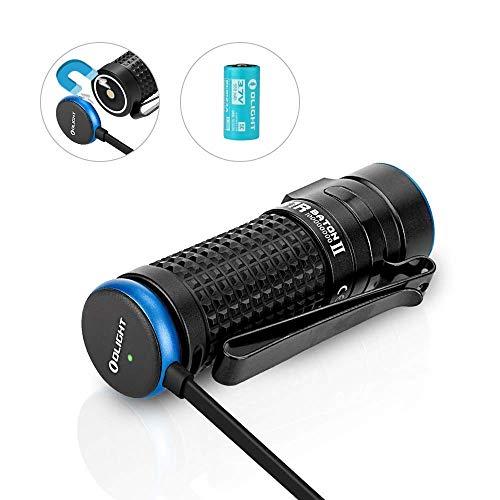 OLIGHT S1R Baton II Taschenlampe EDC 1000 Lumen wiederaufladbare Mini-Taschenlampe Wasserdichte Camping, Wandern, Angeln, Fahrzeuge und zu Hause benutzen
