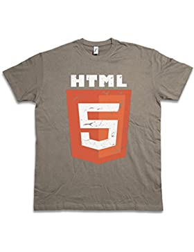 HTML 5 T-SHIRT Silicon TV Series Valley Company Logo Sign Insignia Firma