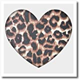 3dRose LLC Heart Leopard Print Animal Prints Fashion 6 by 6-Inch Iron on Heat Transfer for White Material