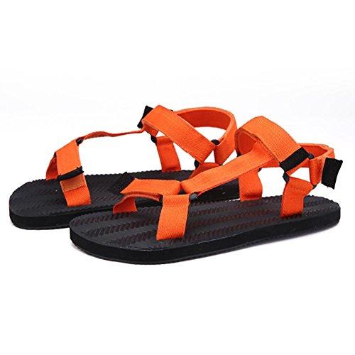 SHANGXIAN Unisex Hausschuhe & Flip-Flops Sommer Casual flachem Absatz, die andere Schwarz Blau Orange zu Fuß Orange