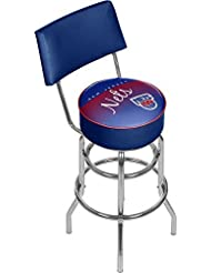 NBA New Jersey Nets Hardwood Classics Bar Stool with Back, One Size, Chrome by Trademark Gameroom