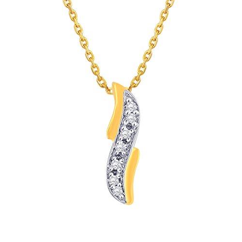 Giantti 14carats Diamant Pendentif Femme Collier (0.028CT, VS/Si-clarity, Gh-colour)