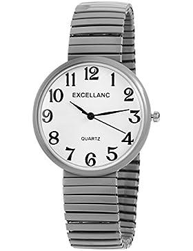 Excellanc Watch Damenuhr analoge Zugband Armbanduhr Quartz in Farbe Silber