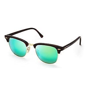 Elegante Wayfarer & Clubmaster Boys Sunglasses(Clbgldgrnmer 2 Green)