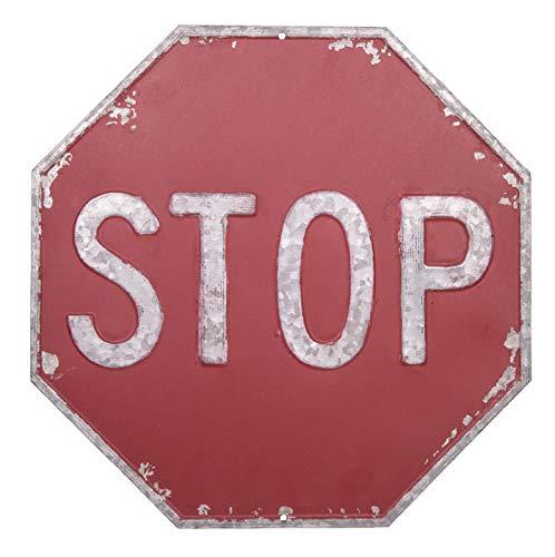 Antic Line - Panneau Stop octogonal en Metal à Suspendre