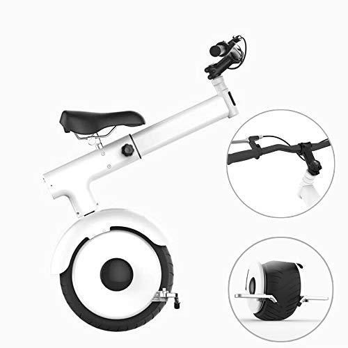 SJAPEX Elektrische Einräder, Smart Scooter, Somatosensorischer Modus,60 V / 800 W Motor,Die Schnellste Geschwindigkeit Ist 15 Km/H, Erwachsene Einrad Mit Sitz und Lenker, Weiß