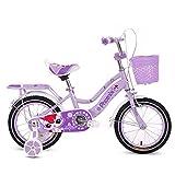 MLMHLMR Bici per Bambini 3-5-6 Anni Passeggino 14/16/18 Pollici Bici per Bambini Bicicletta Bici Viola Bicicletta per Bambini (Size : 14 Inches)