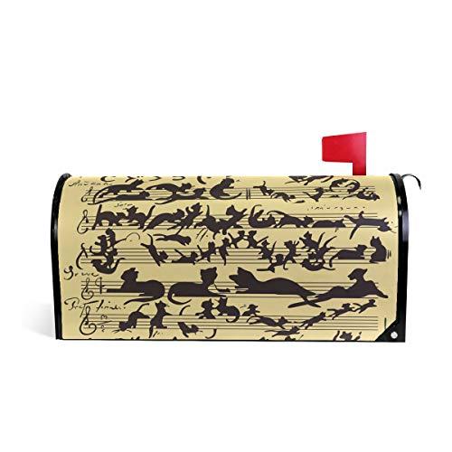 DOSHINE Briefkasten-Abdeckung mit lustigem Katzen-Motiv, magnetisch, 63,5 x 53,3 cm