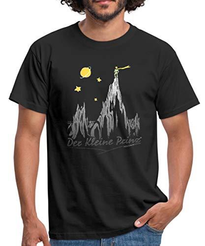 Spreadshirt Der Kleine Prinz Das Echo In Den Bergen Männer T-Shirt, M, Schwarz (Berg-echo)