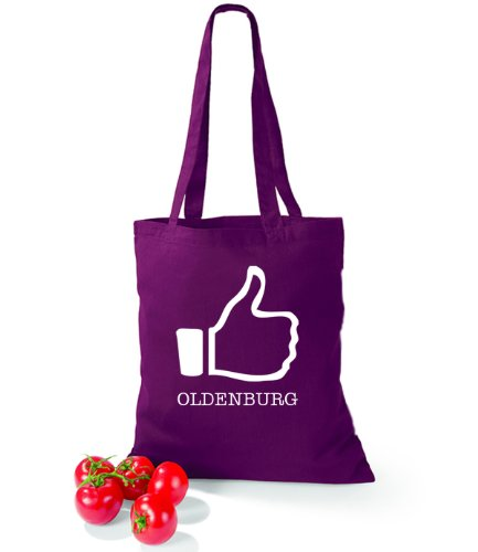 Artdiktat Baumwolltasche I like Oldenburg Burgundy