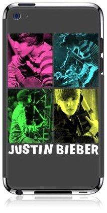 MusicSkins Justin Bieber - 4square Schutzfolie für iPod Touch 4G (Justin Bieber Ipod)