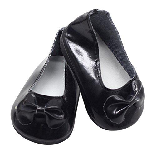 TianranRT - Muñeca americana plana con purpurina para zapatos, para 18 pulgadas,...