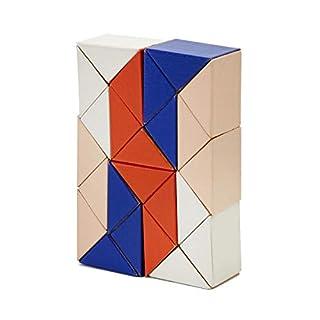 AREAWARE czsbsbp Schlange Block Holz Spielzeug Puzzle–Blau/Pink