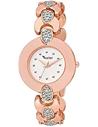 cf71bd0eecd71 Sky Mart New 2019 Arrival Foxter Collection Analogue Round Silver Dial and  Diamond Case Dial and Rose-Gold Metal Linked Strap Watch for…