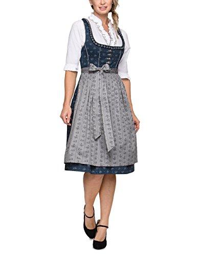 Stockerpoint Damen Elizan Dirndl,, per pack Mehrfarbig (dunkelblau-grau dunkelblau-grau), 38 (Herstellergröße: 38)