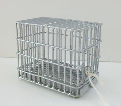 Miniatura Per Casa Delle Bambole Animale Domestico Accessorio Galvanizzato Piccolo Cane Cage