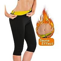 Progoco - Pantalones de neopreno térmicos de adelgazamiento para mujer, ...