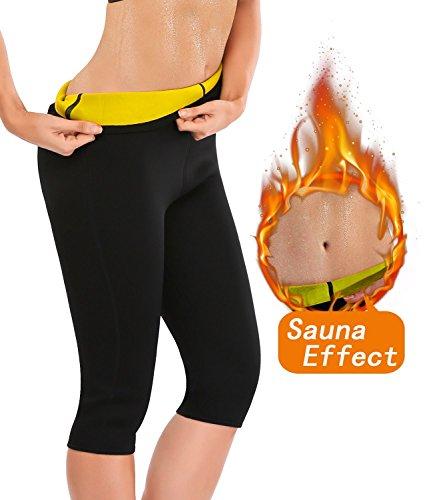 Progoco Pantalones Cortos Suana Deportivos Mujer de Neopreno Sauna Pants para Sudoración,Quema Grasa,Adelgazante Talla S
