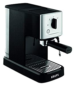 Krups XP344040 Calvi Manual Espresso Steam and Pump Coffee Machine, 1500 W, Black