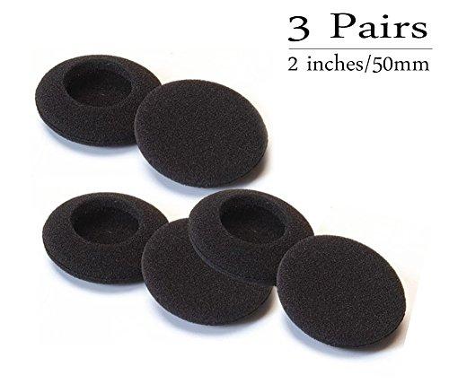 AIUIN 3 Pares de Auriculares Esponja Auriculares Cubre Juegos de Auriculares Desmontables 5cm