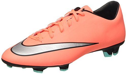 Nike Mercurial Victory V Fg, Chaussures de Football Compétition Homme Multicolore (Orange/Silver)