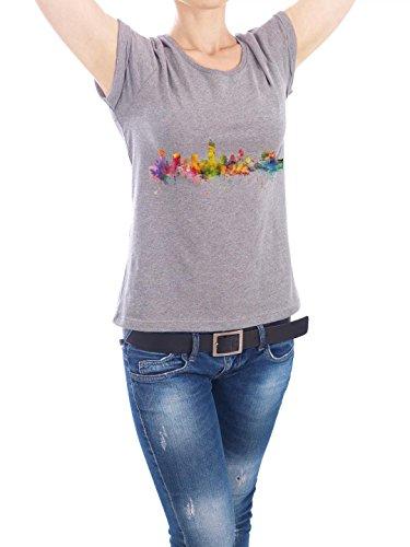 """Design T-Shirt Frauen Earth Positive """"Austin Texas Watercolor"""" - stylisches Shirt Städte Reise Architektur von Michael Tompsett Grau"""