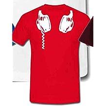 Diseño con texto en inglés para colgar auriculares de diadema de plumón de T-shirts de la música unisex - 5 colores
