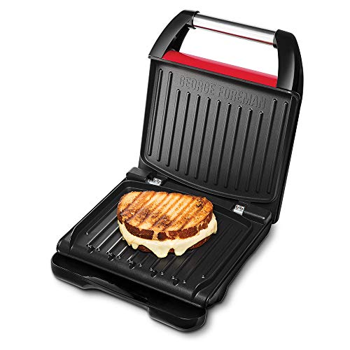 George Foreman 25030 – 56 Fitness Barbacoa, 1200, Acero inoxidable, color rojo