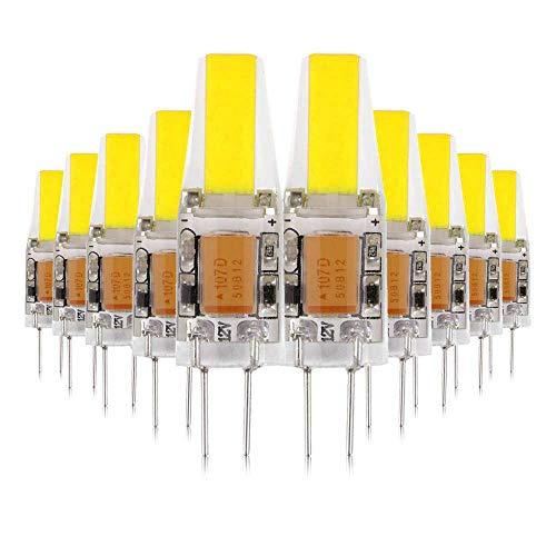 Crystal 25 Licht (ONLT 10X G4 3W COB LED Leuchtmittel, AC/DC12-24V 6000K 300LM LED Bi-Pin-Lampe, 25W Halogenlampen Ersatz, nicht-dimmbar, 360 Grad Abstrahlwinkel, LED Birnen,Led Lampe,Crystal Spotlight Bulb (Kaltweiß))