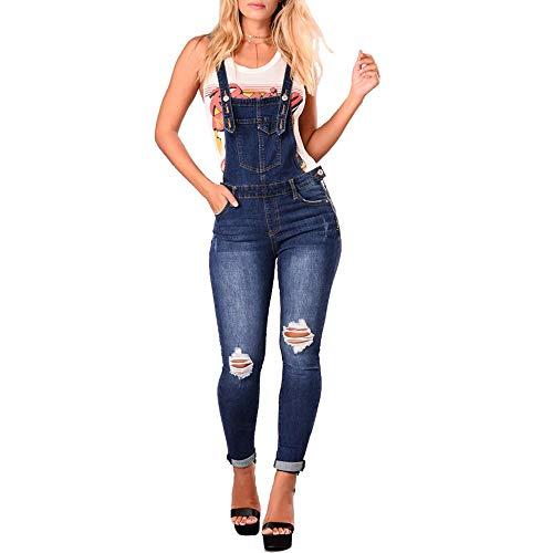 0b5bf665d Bmeigo Dungarees Denim Womens - Traje Fino Jumpsuit Jeans Ladies Slim Fit  Overalls Pantalones