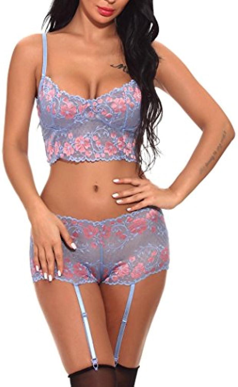 Keepwin Mujer Pijama Encaje Ropa De Dormir LenceríA Sexy Erotica Vestido De Noche