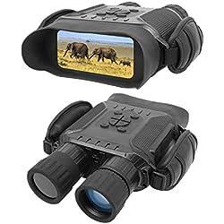 Binocular Digital de Visión Nocturna para Cazar 7x31mm con Tft LCD HD de 2 Pulgadas Cámara IR y Videocámara IR Infrarrojo El Rango de Visión De 1300ft/400M Toma Video de 5mp y 720p