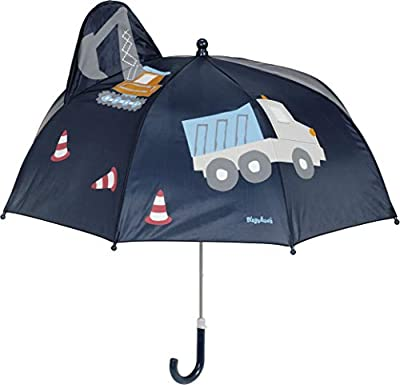 Playshoes - Regenschirm 3D für Kinder - Baustelle - Dunkelblauw