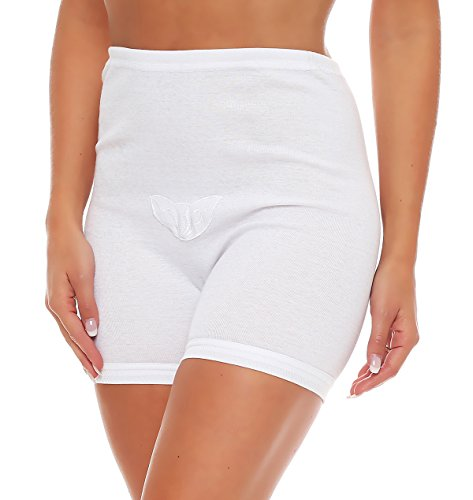 3er Pack Damen Taillen-Slips mit Bein und Baumwollspitze (Schlüpfer, Slip, Unterhose) Nr. 407 - 2