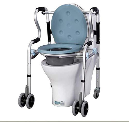 OPAR Aufklappbare Toilettenstuhl, Heavy Duty Steel Duty Bedside Commode Chair mit Drop-Arm 400 lb. Gewichtskapazität, Extra Wide Commode Stuhl -