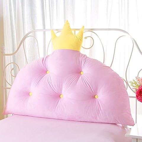 BSNOWF- Coussins de chevet Princess Pillow Oreiller Enfant Grand lit de dossier Lit Taille du sac doux En option ( taille : 120*80cm )