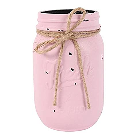 Mini Jam Jar - Perfect for Fresh Flowers & Centrepieces - Various Colours (Rose Pink)