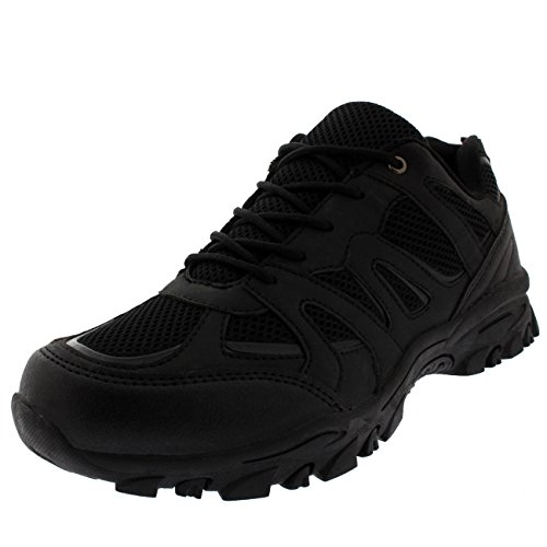 Mens Gym Shock Absorbing Fitness Walking Running Lightweight Trainers - Black -...
