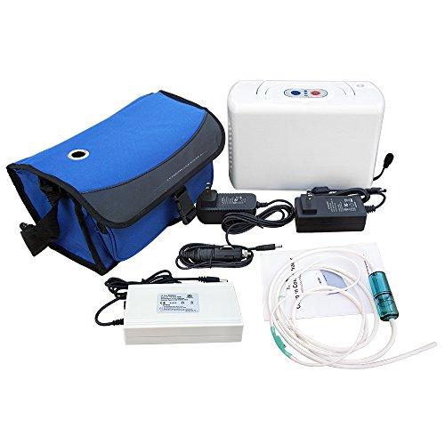 Tragbarer Konzentrator (ECO-WORTHY Tragbarer Sauerstoffkonzentrator Sauerstoffgerät Oxygen Concentrator 3L Konzentrator 12V Akku 220V Komplet Set)