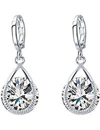 Shining Diva Fashion Jewellery Crystal Silver Stylish Fancy Party Wear Studs Traditional Earrings For Women &...
