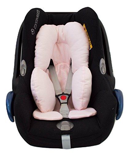Universal Auto-Sitzverkleinerer für Gruppe 0, Maxi Cosi, Babyschale, Babywippe oder Kinderwagen. Der Modell Grundlagen: Rosa